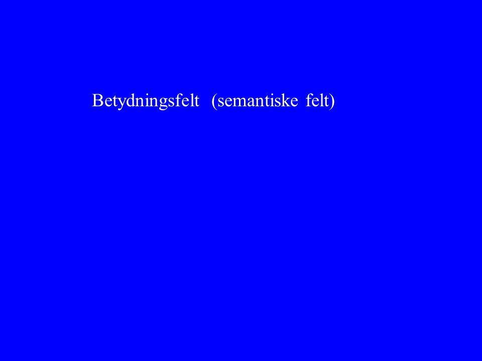 Betydningsfelt (semantiske felt)