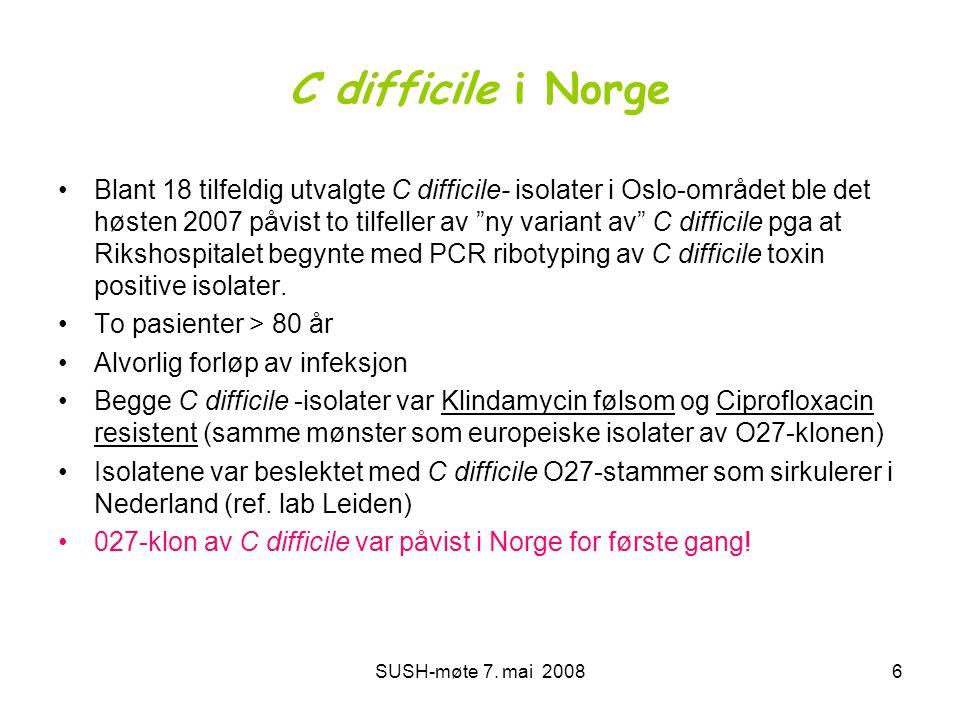 C difficile i Norge
