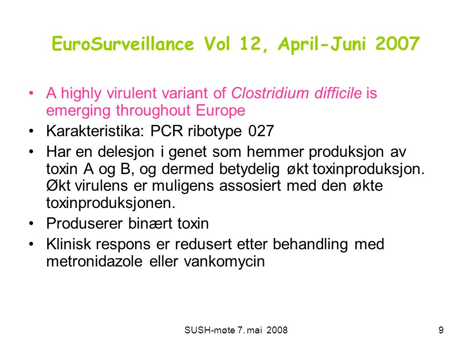 EuroSurveillance Vol 12, April-Juni 2007
