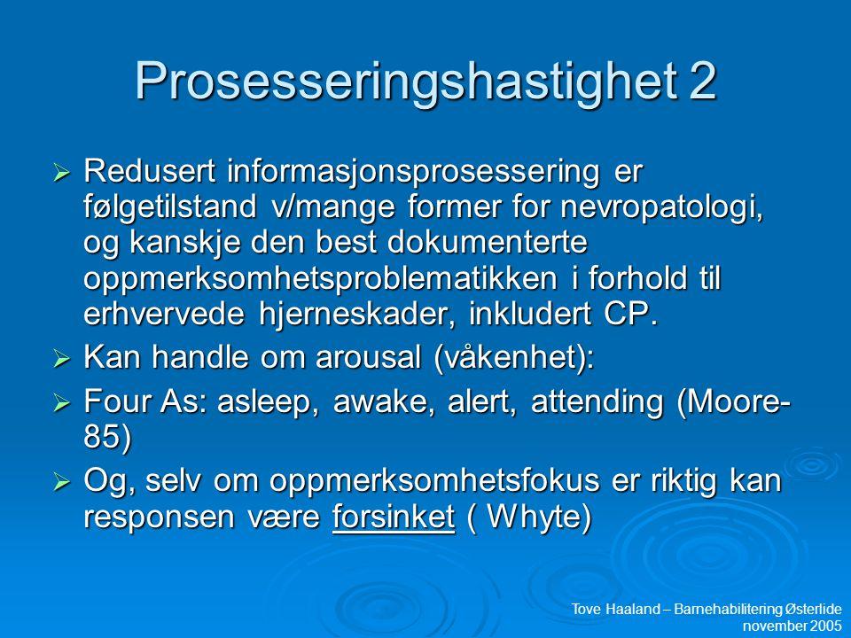 Prosesseringshastighet 2