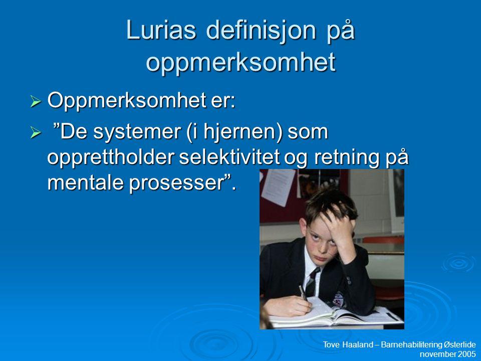 Lurias definisjon på oppmerksomhet
