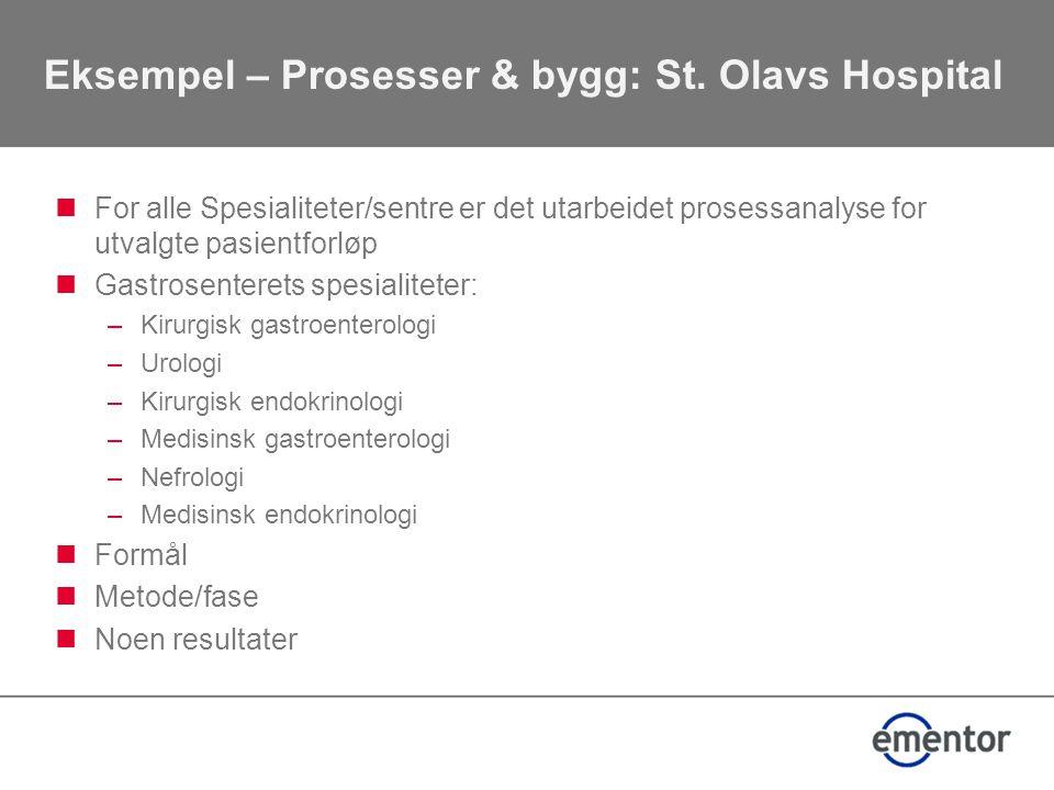Eksempel – Prosesser & bygg: St. Olavs Hospital