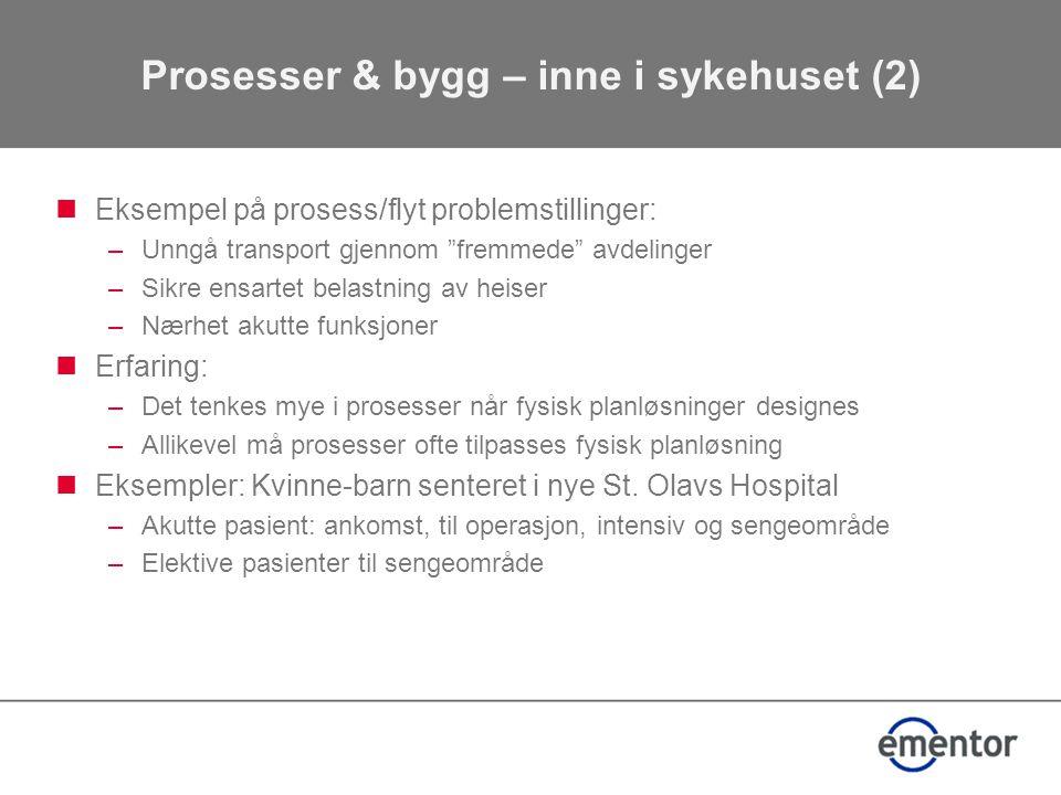 Prosesser & bygg – inne i sykehuset (2)