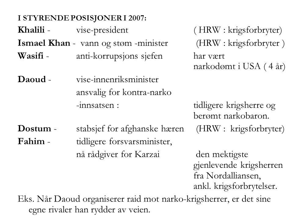 Khalili - vise-president ( HRW : krigsforbryter)