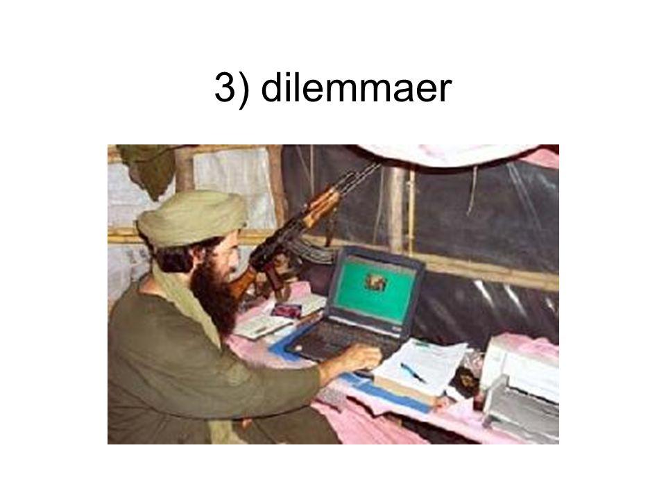 3) dilemmaer Nødvendighet , ikke valg å gå inn Hva nå
