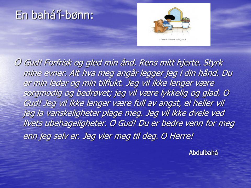 En bahá'í-bønn: Abdulbahá