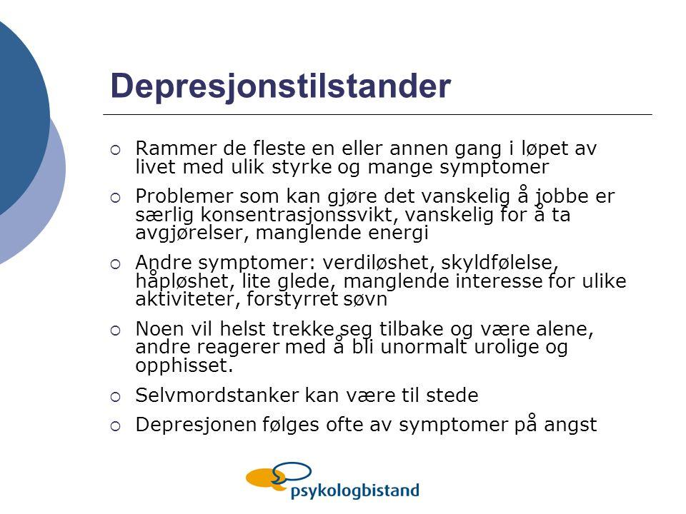 Depresjonstilstander