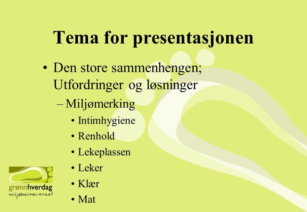 Tema for presentasjonen