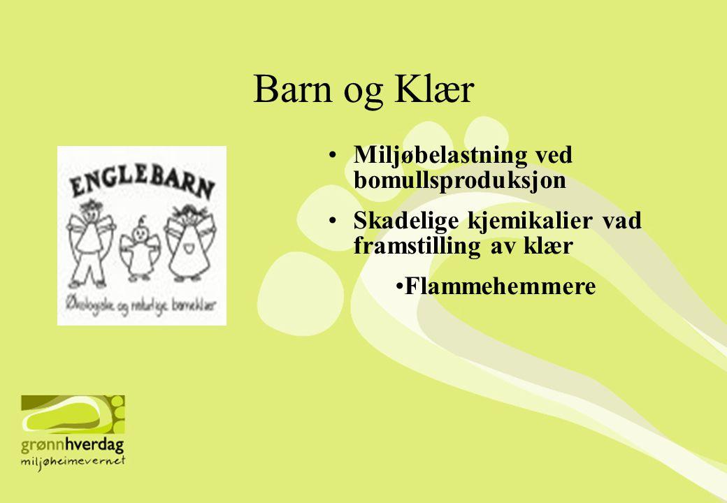 Barn og Klær Miljøbelastning ved bomullsproduksjon