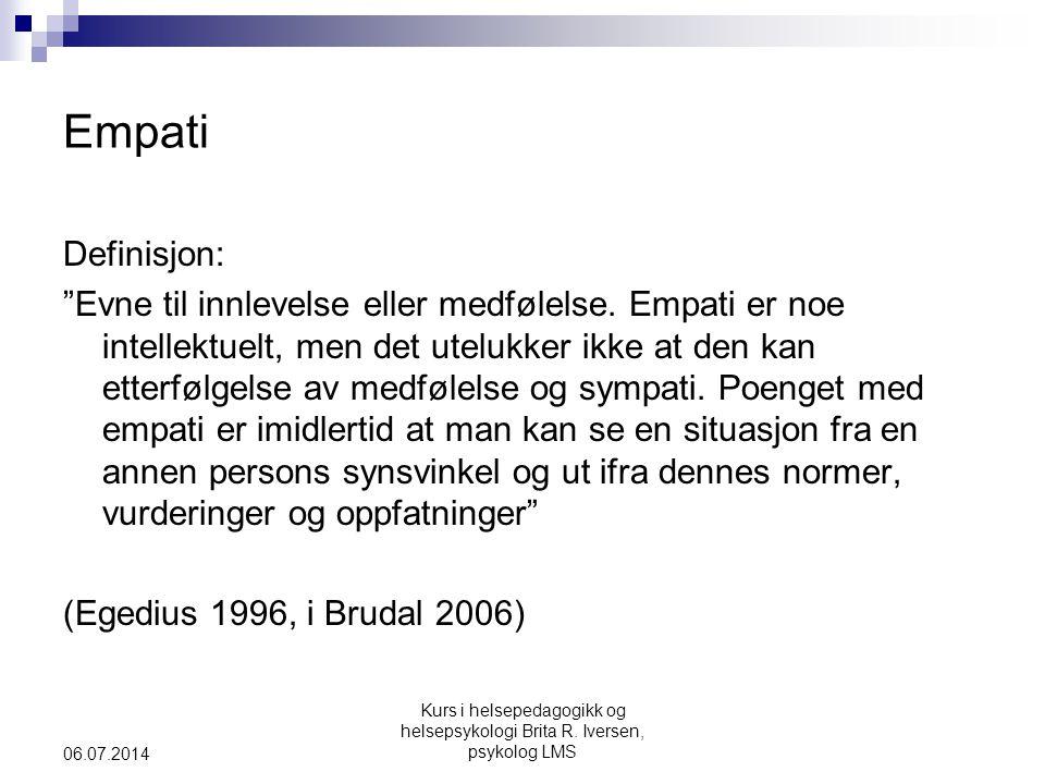 Empati Definisjon: