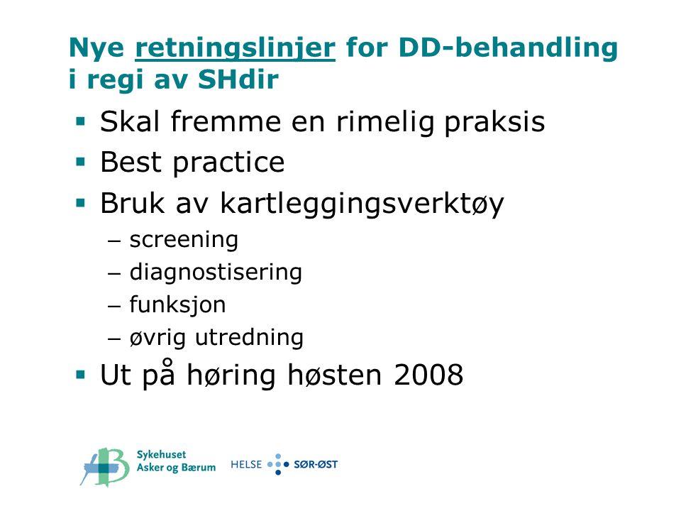 Nye retningslinjer for DD-behandling i regi av SHdir