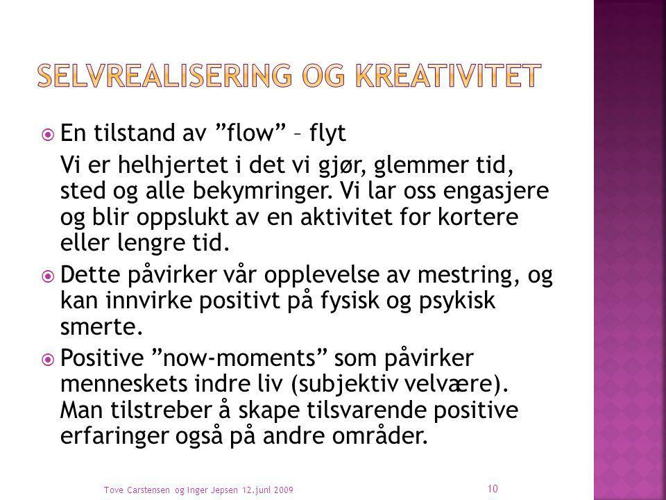 Selvrealisering og kreativitet