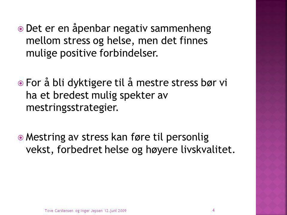 Det er en åpenbar negativ sammenheng mellom stress og helse, men det finnes mulige positive forbindelser.