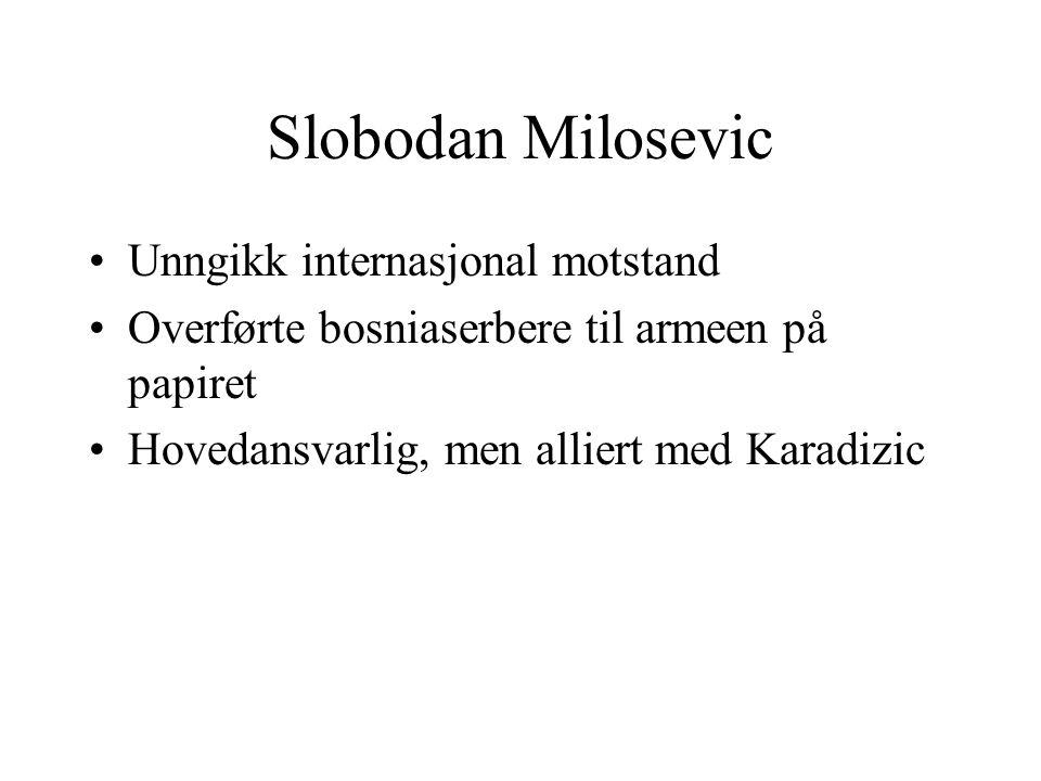 Slobodan Milosevic Unngikk internasjonal motstand