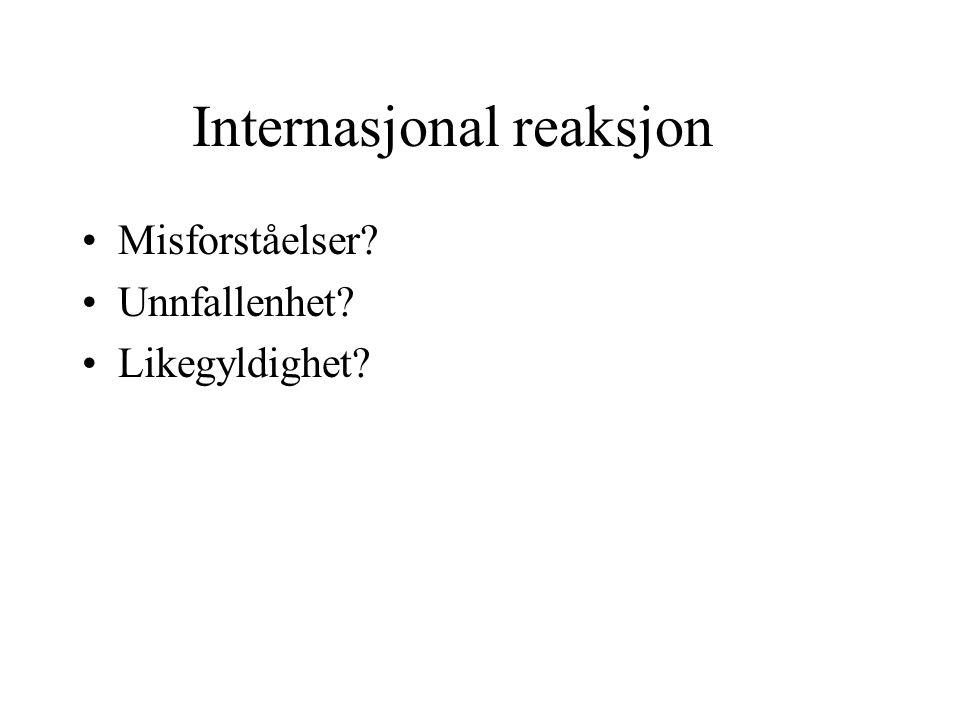Internasjonal reaksjon
