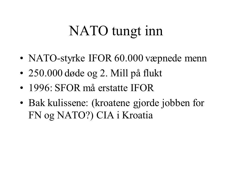 NATO tungt inn NATO-styrke IFOR 60.000 væpnede menn
