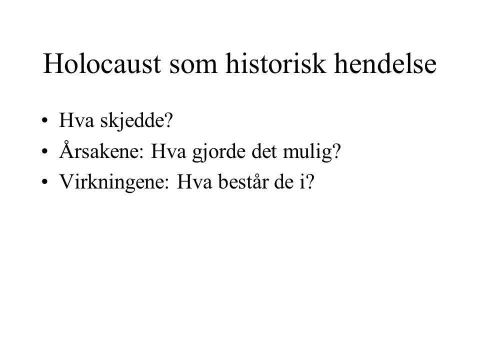 Holocaust som historisk hendelse