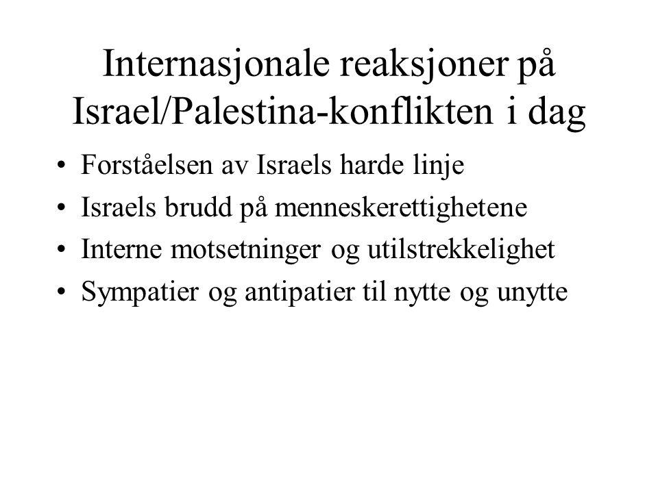 Internasjonale reaksjoner på Israel/Palestina-konflikten i dag