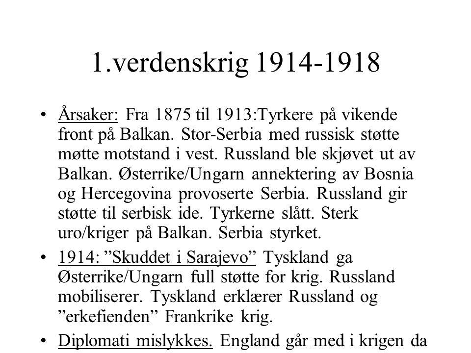 1.verdenskrig 1914-1918