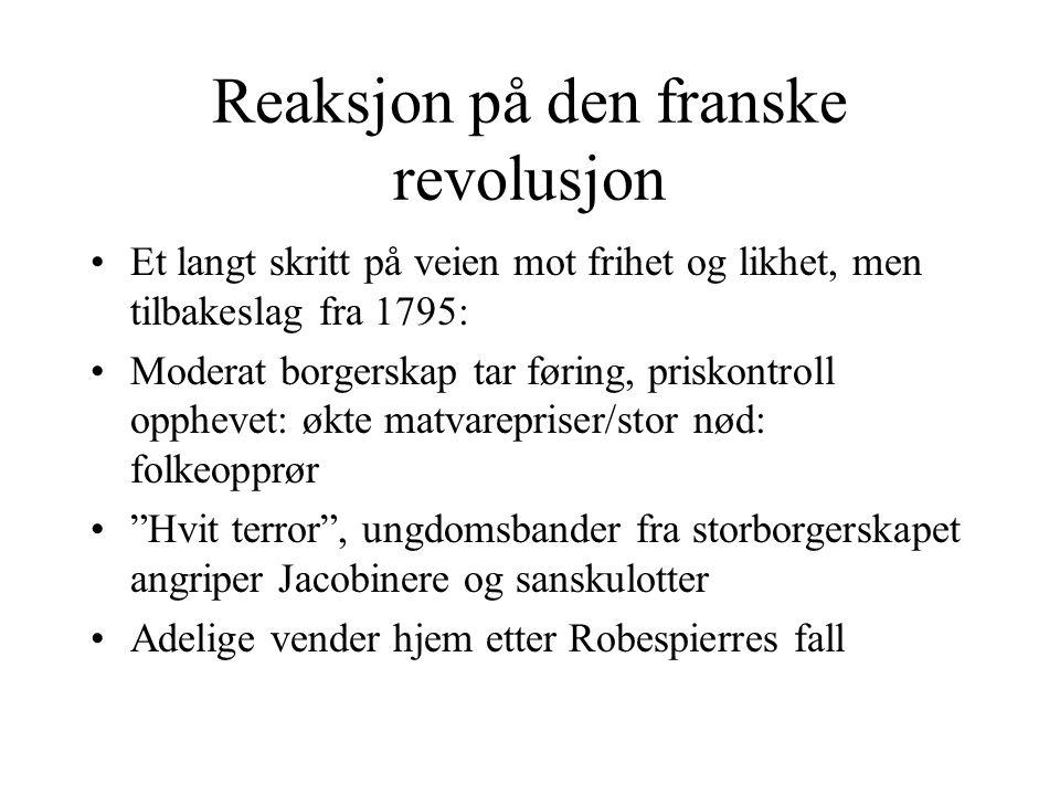 Reaksjon på den franske revolusjon