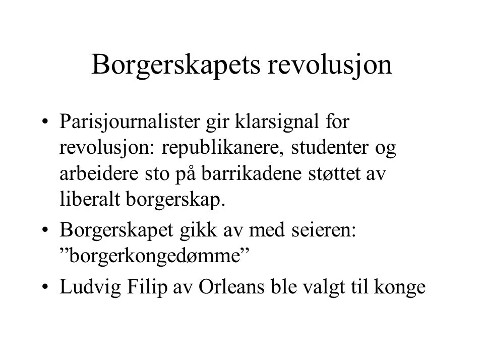Borgerskapets revolusjon