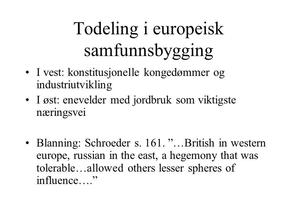 Todeling i europeisk samfunnsbygging