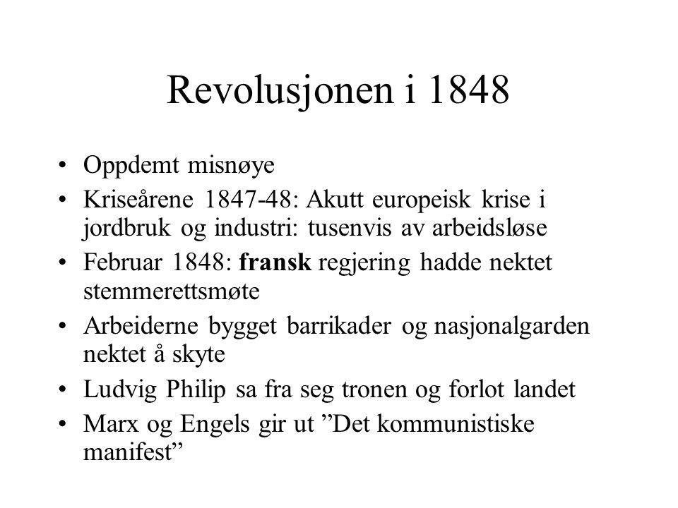 Revolusjonen i 1848 Oppdemt misnøye