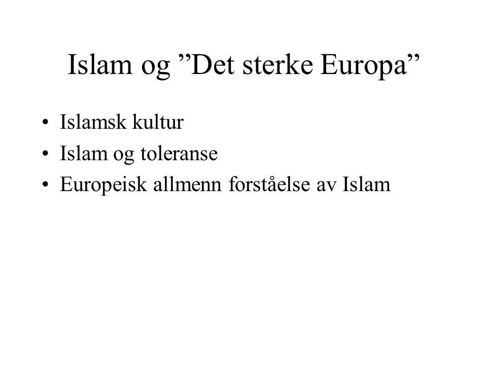Islam og Det sterke Europa