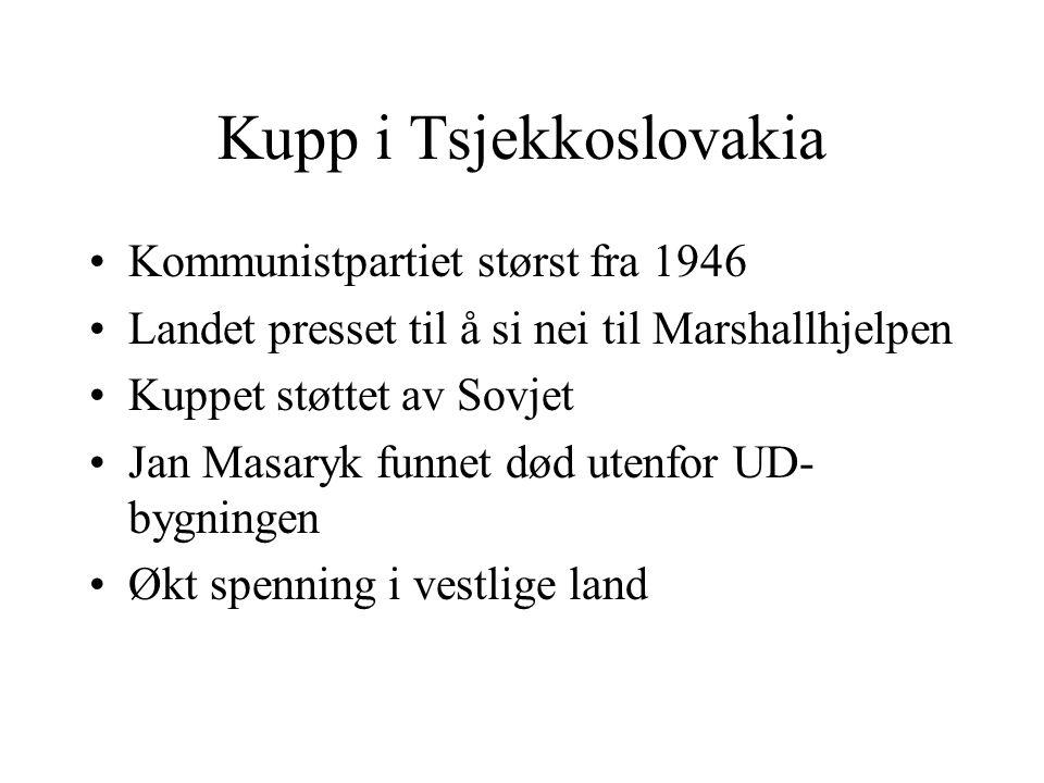 Kupp i Tsjekkoslovakia