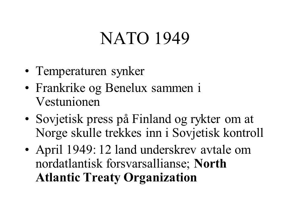 NATO 1949 Temperaturen synker