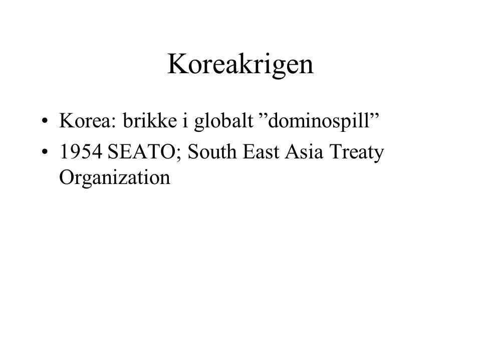 Koreakrigen Korea: brikke i globalt dominospill