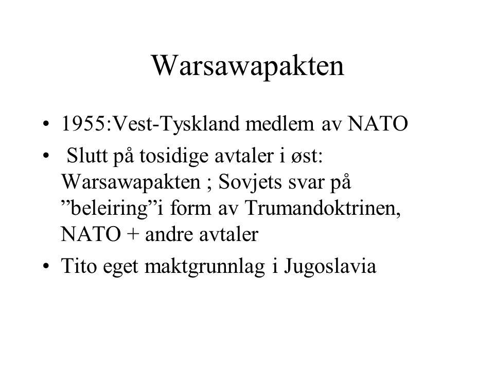Warsawapakten 1955:Vest-Tyskland medlem av NATO