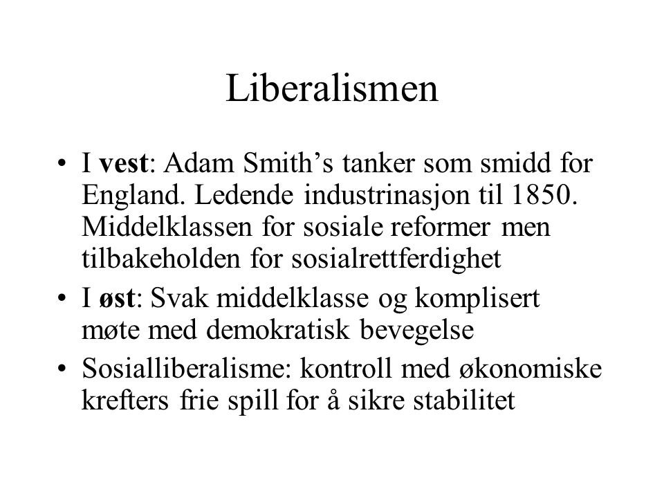 Liberalismen