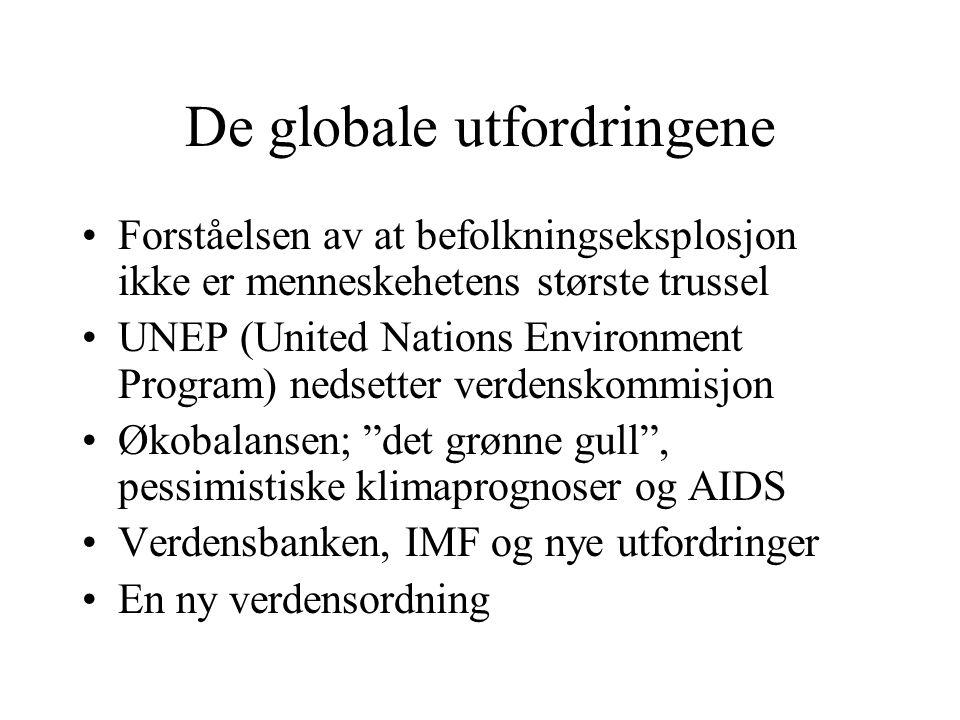 De globale utfordringene