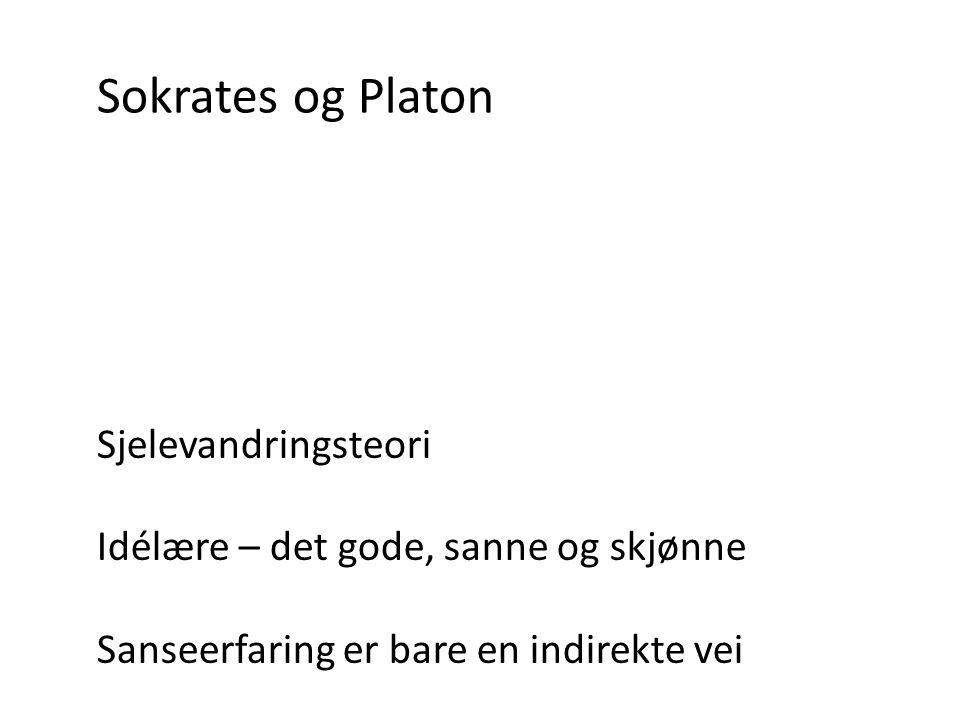 Sokrates og Platon Sjelevandringsteori
