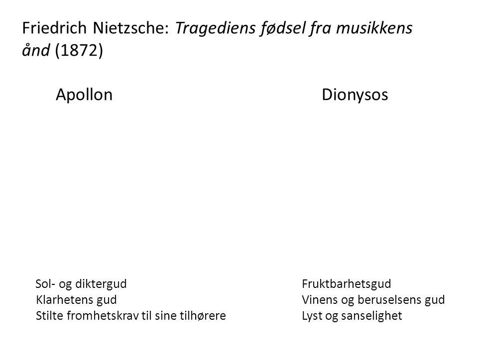 Friedrich Nietzsche: Tragediens fødsel fra musikkens ånd (1872)
