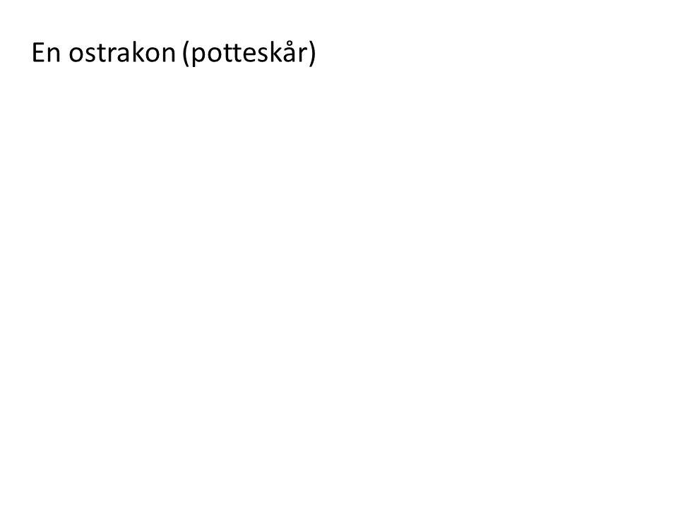 En ostrakon (potteskår)