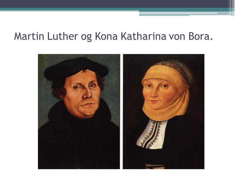 Martin Luther og Kona Katharina von Bora.