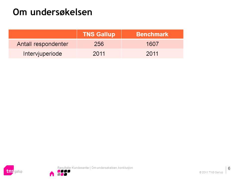 Om undersøkelsen TNS Gallup Benchmark Antall respondenter 256 1607