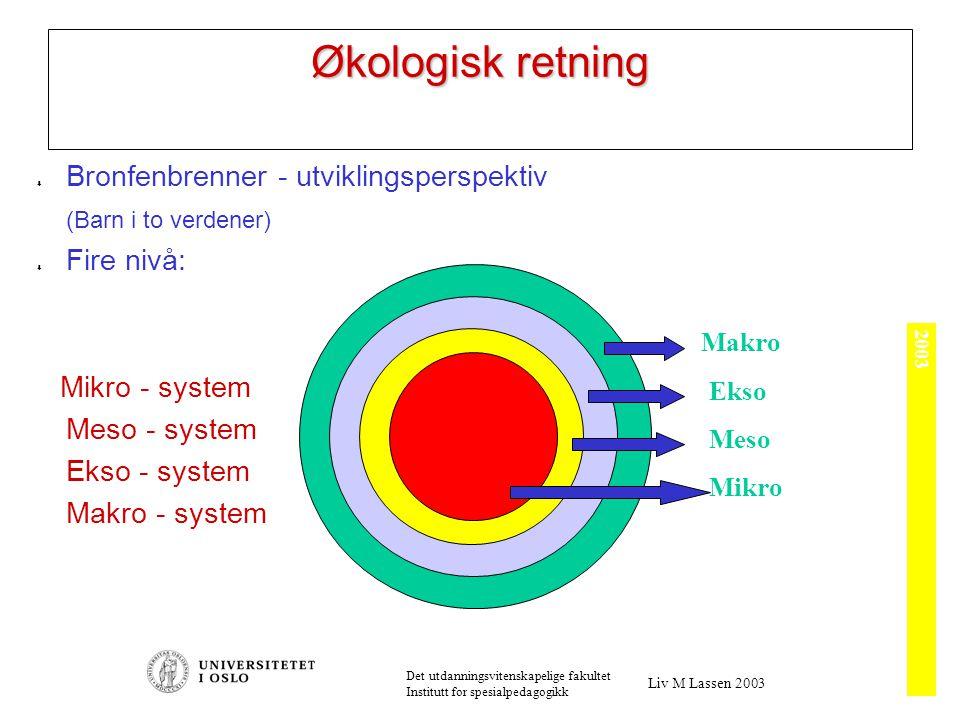 Systemteori Strukturproblemer Myter, regler, meninger