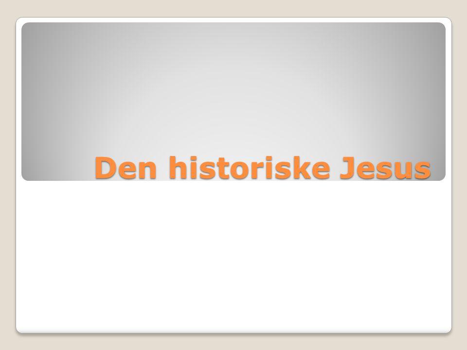 Den historiske Jesus