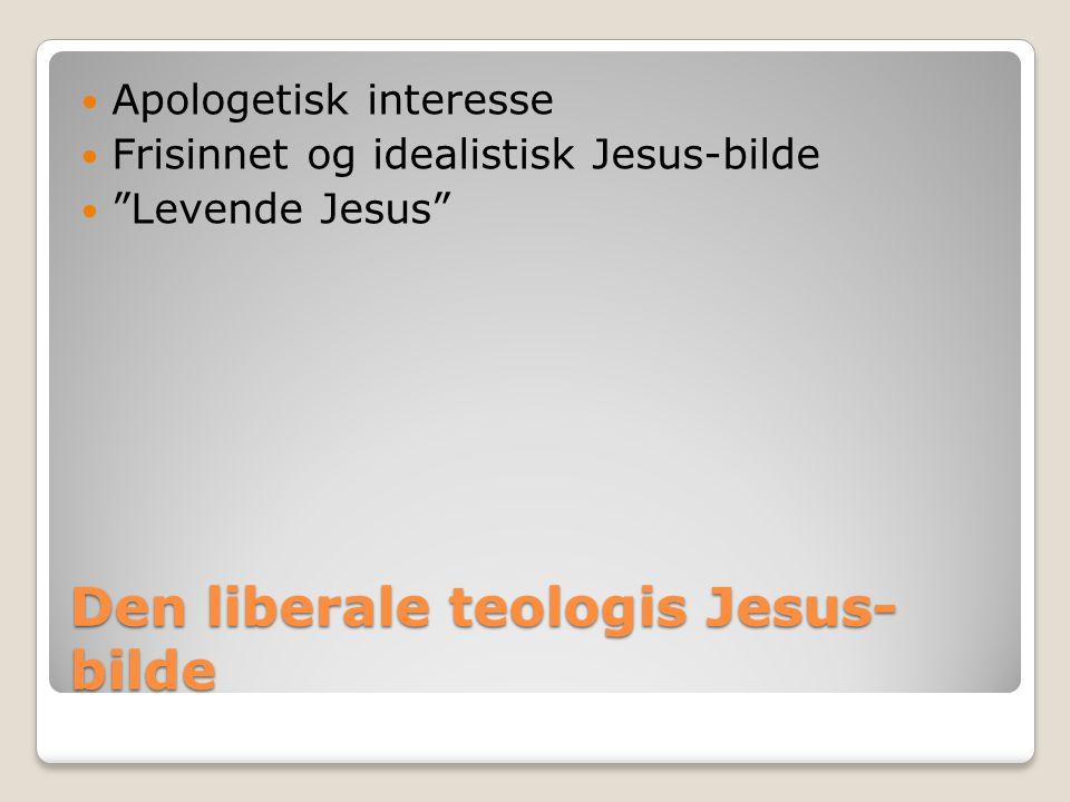 Den liberale teologis Jesus-bilde