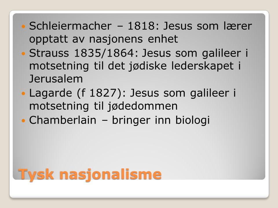 Schleiermacher – 1818: Jesus som lærer opptatt av nasjonens enhet