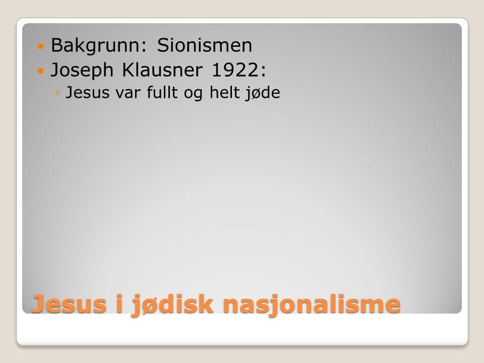 Jesus i jødisk nasjonalisme