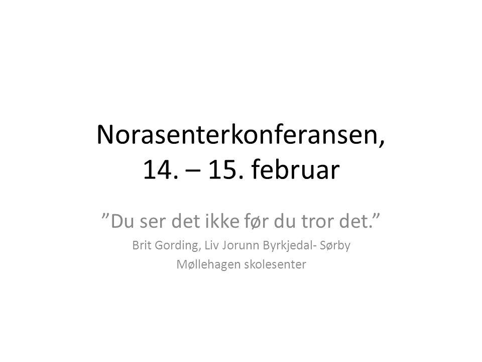 Norasenterkonferansen, 14. – 15. februar