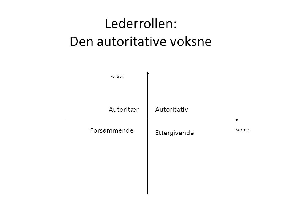 Lederrollen: Den autoritative voksne