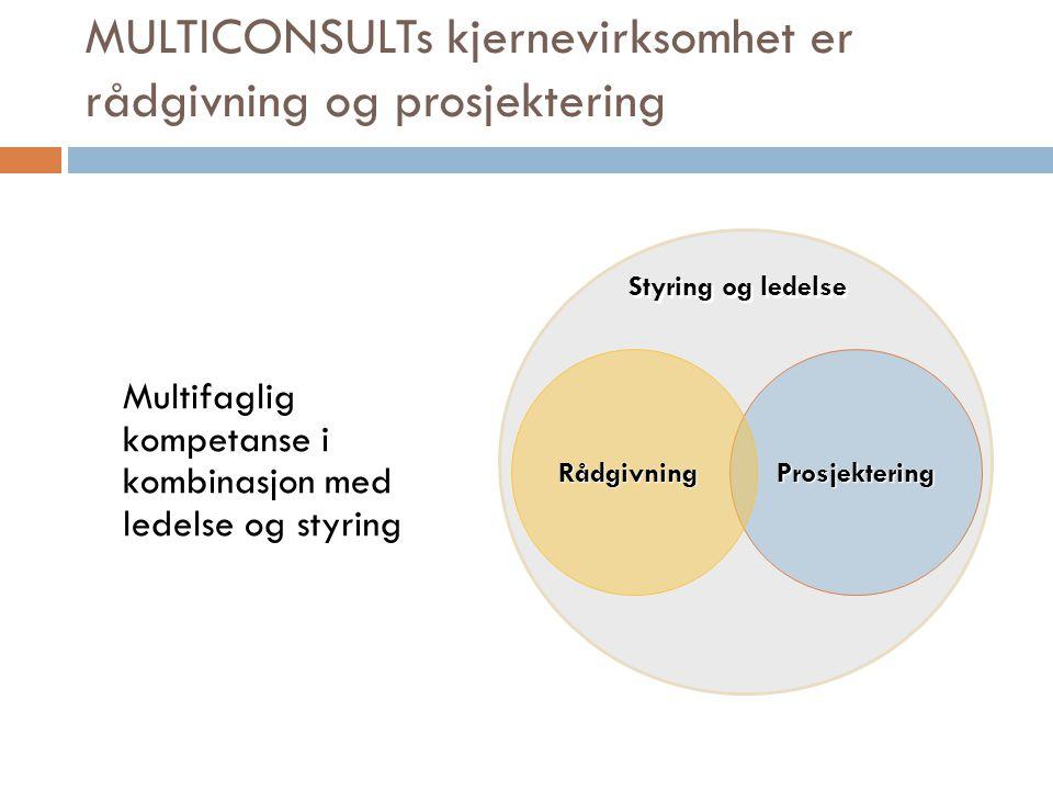 MULTICONSULTs kjernevirksomhet er rådgivning og prosjektering