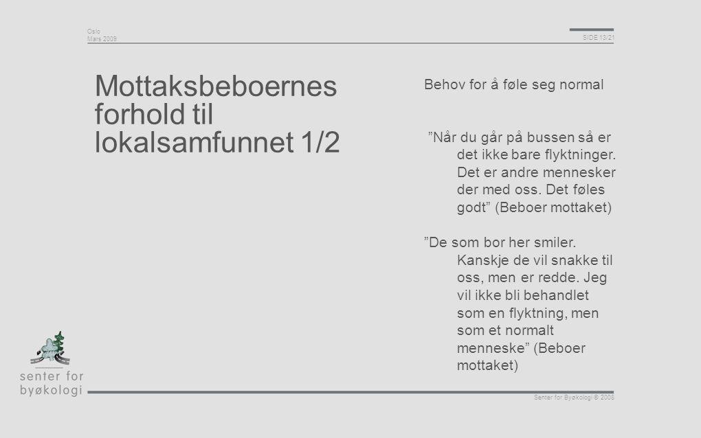 Mottaksbeboernes forhold til lokalsamfunnet 1/2