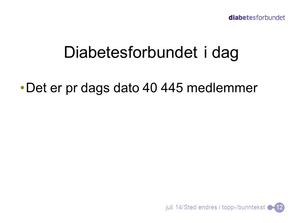 Diabetesforbundet i dag