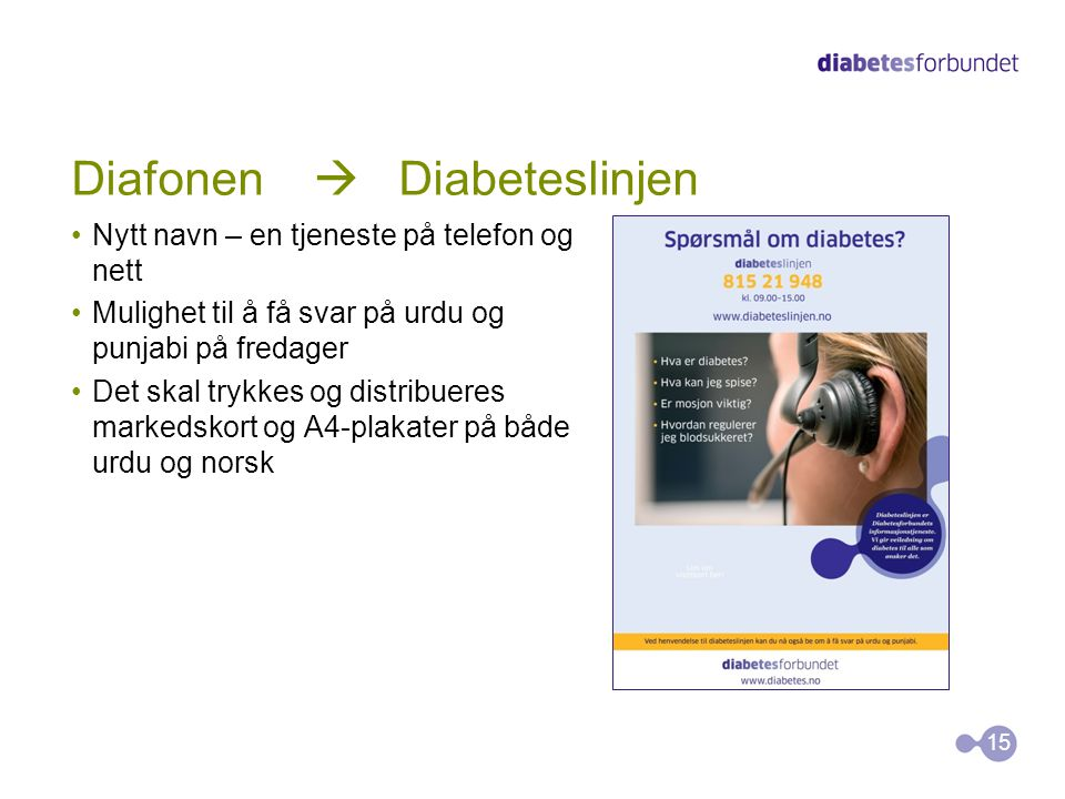 Diafonen  Diabeteslinjen